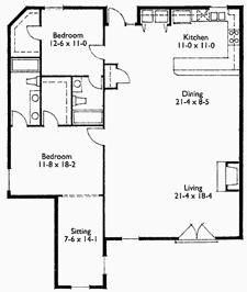 Suite 205 Floor Plan