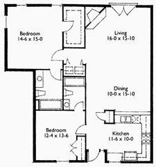 Suite 206 Floor Plan