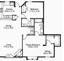 Suite 207 Floor Plan