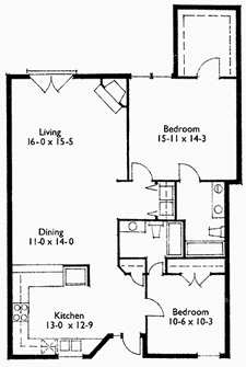 Suite 208 Floor Plan