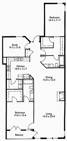 Suite 303 Floor Plan